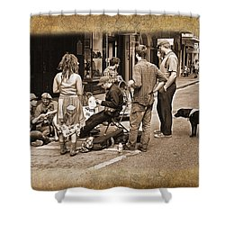 New Orleans Gypsies - Antique Shower Curtain by Judy Vincent