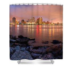 New Orleans Skyline Shower Curtain