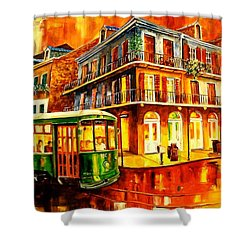 New Orleans Streetcar Shower Curtain by Diane Millsap