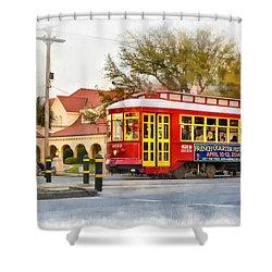 New Orleans Streetcar Paint Shower Curtain by Steve Harrington