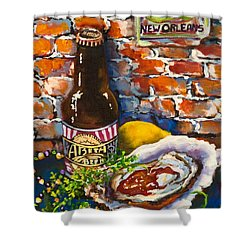 Shower Curtain featuring the painting New Orleans Treats by Dianne Parks
