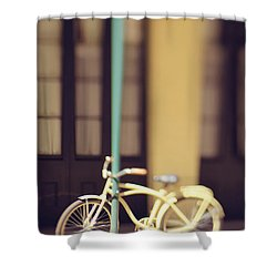 New Orleans Yellow Bicycle Shower Curtain