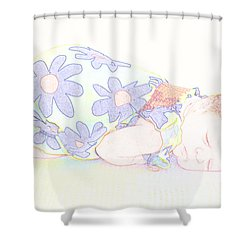 New Photographic Art Print For Sale Baby Girl Shower Curtain