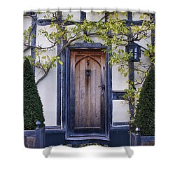 New Photographic Art Print For Sale Doorway 2 In Medieval Lavenham Shower Curtain