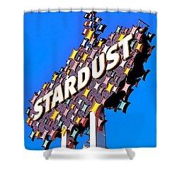 Original Stardust Casino Neon In Las Vegas Pop Art Shower Curtain