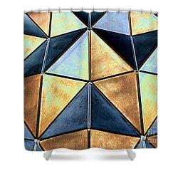 Pop Art Abstract Art Geometric Shapes Shower Curtain