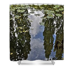 Reflections Amongst The Lily Pads Shower Curtain