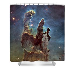 New Pillars Of Creation Hd Square Shower Curtain by Adam Romanowicz
