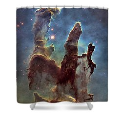 New Pillars Of Creation Hd Tall Shower Curtain