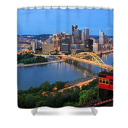Pittsburgh Summer  Shower Curtain