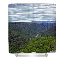 New River Bridge Shower Curtain by Aimee L Maher Photography and Art Visit ALMGallerydotcom