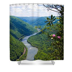 New River View Shower Curtain
