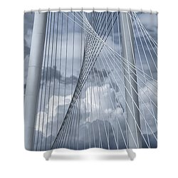 New Skyline Bridge Shower Curtain by Joan Carroll