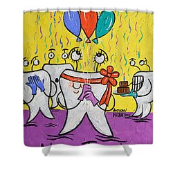 New Tooth Shower Curtain