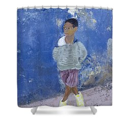 New Trainers Havana Cuba Shower Curtain by Kate Yates