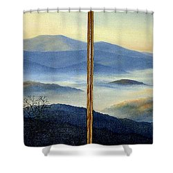 New World Shower Curtain by Mary Taglieri