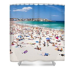 New Year's Day At Bondi Beach Sydney Australi Shower Curtain by Matteo Colombo