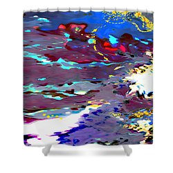 New Year's Day Rain On Snow Shower Curtain by Mathilde Vhargon