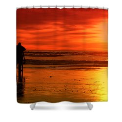 New Year's Love By Diana Sainz Shower Curtain by Diana Sainz