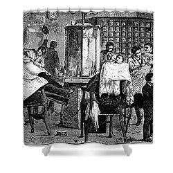 New York: Barbershop, 1882 Shower Curtain by Granger