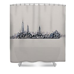 New York City 2013 Skyline 20x60 Shower Curtain