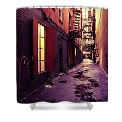 New York City Alley Shower Curtain by Vivienne Gucwa
