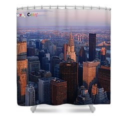 New York City At Dusk Shower Curtain by Emmy Marie Vickers