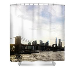 New York City Bridges Shower Curtain by Nicklas Gustafsson