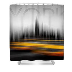 New York City Cabs Abstract Shower Curtain