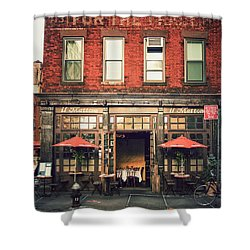 New York City - Cafe In Tribeca Shower Curtain by Vivienne Gucwa