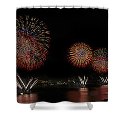 New York City Celebrates The Fourth Shower Curtain by Susan Candelario