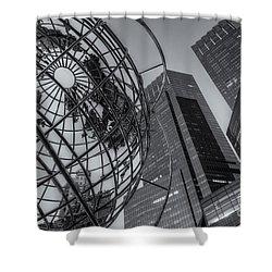 New York City Columbus Circle Landmarks II Shower Curtain