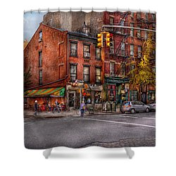 New York - City - Corner Of One Way And This Way Shower Curtain by Mike Savad