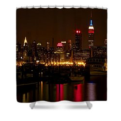 Shower Curtain featuring the photograph New York City by Dave Files