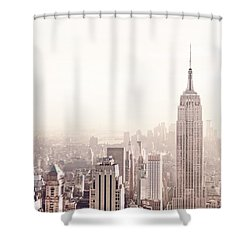 New York City - Empire State Building Shower Curtain by Vivienne Gucwa