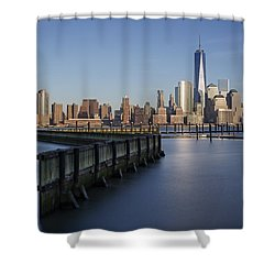 New York City Financial District Shower Curtain by Susan Candelario