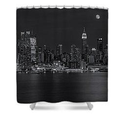 New York City Night Lights Shower Curtain by Susan Candelario