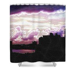 New York City Rooftops Shower Curtain by Tony Rubino