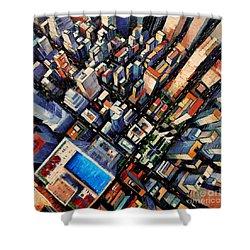 New York City Sky View Shower Curtain by Mona Edulesco