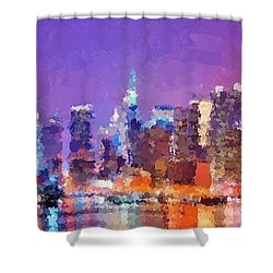 New York City - Skyline 0 Shower Curtain