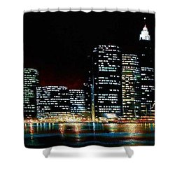 New York City Skyline 2 Shower Curtain