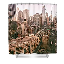 New York City Skyline - Above The City Shower Curtain by Vivienne Gucwa