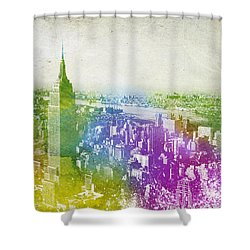 New York City Skyline Shower Curtain by Aged Pixel