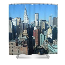 Shower Curtain featuring the photograph New York City Skyline by Dora Sofia Caputo Photographic Art and Design