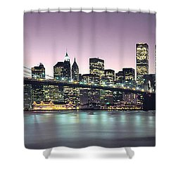 New York City Skyline Shower Curtain by Jon Neidert