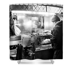 New York City Street Vendor Shower Curtain