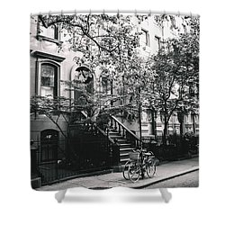 New York City - Summer - West Village Street Shower Curtain by Vivienne Gucwa