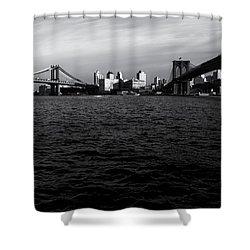 New York City - Two Bridges Shower Curtain by Vivienne Gucwa