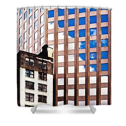 New York City Windows Shower Curtain