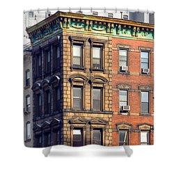 New York City - Windows - Old Charm Shower Curtain by Gary Heller